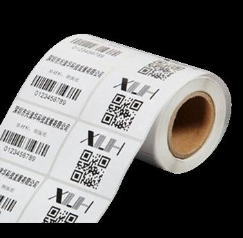 duplo uso bobina etiqueta impressa